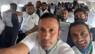 Retired cricketers travel to India to take part in T20 competition