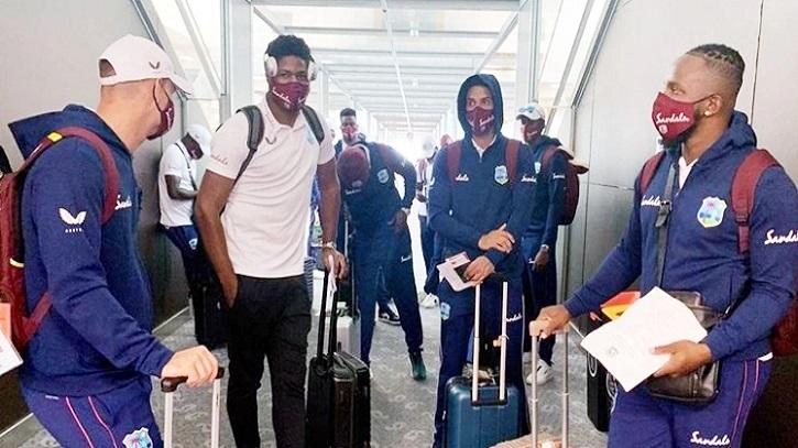 West Indies team reach Dhaka