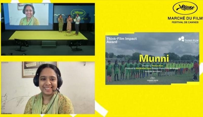 "Bangladeshi director Tahrima Khan Tonni's documentary feature ""Munni"" wins award at Cannes Film Festival"