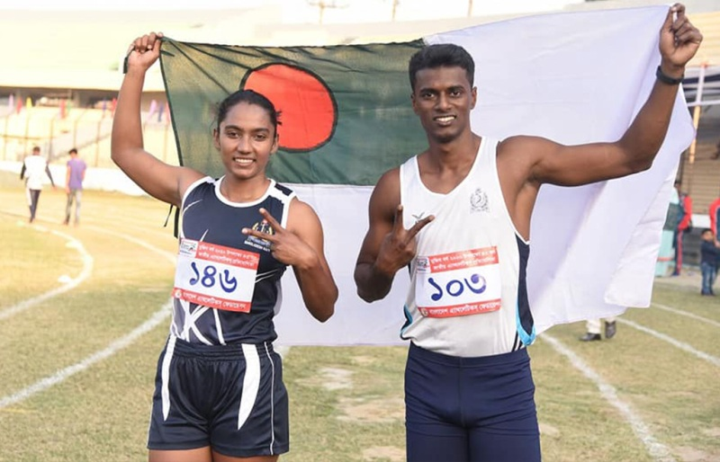 Navy's Ismail and Shirin the fastest man-woman in 100m sprint
