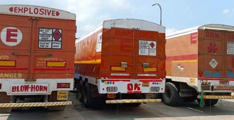 52 tons of explosives arrives in the country from India