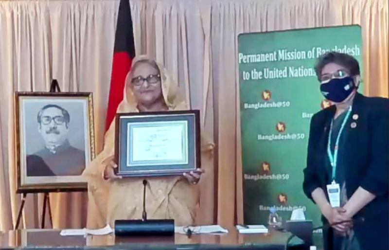 Prime Minister Hasina receives the 'SDG Progress Award'