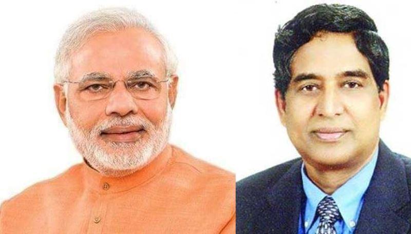 Indian Prime Minister Narendra Modi thanks Agriculture Minister Razzaque