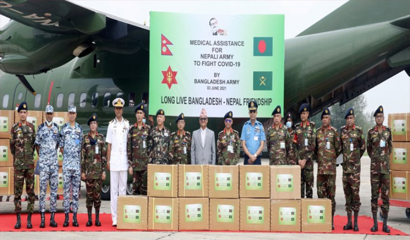 Bangladesh sends coronavirus medical supplies to Nepal