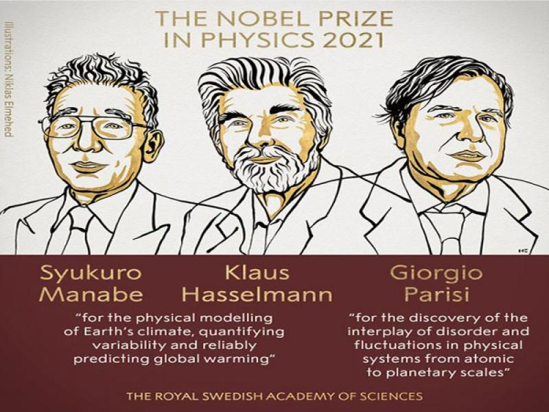 Nobel Prize in Physics awarded to three scientists for contributions to understanding complex physical systems