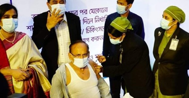 Vaccination starts in Bangladesh, 26 people get vaccinated on Wednesday