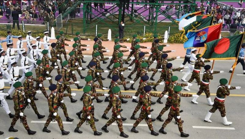 Bangladesh contingent takes part in India's Republic Day parade for the first time
