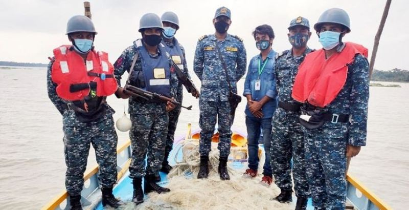 20 lakh 36 thousand meters of illegal nets seized during hilsa protection drive