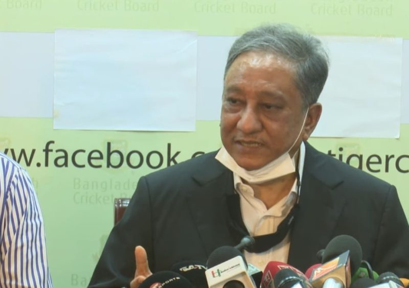 Papon at a press conference after being elected President of the BCB. Photo: Screengrab from YouTube