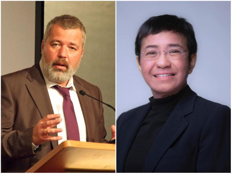 Nobel Peace Prize 2021 awarded to journalists Dmitry Muratov, Maria Ressa