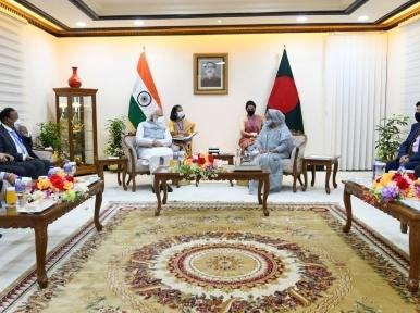 Bangladesh PM Sheikh Hasina meets Narendra Modi