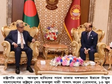 Iraq envoy meets President Hamid