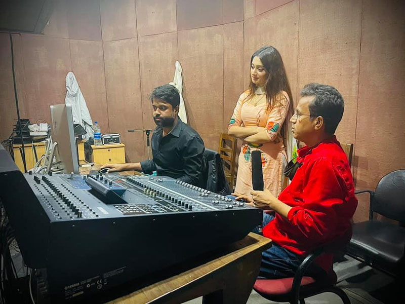 Actress Puja Cherry starts dubbing for upcoming project Hridita